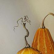 Картины и панно ручной работы. Ярмарка Мастеров - ручная работа Картина пастелью Оранжевая пара. Handmade.