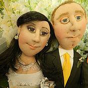 Куклы и игрушки ручной работы. Ярмарка Мастеров - ручная работа Подарок на свадьбу Куклы по фото. Handmade.