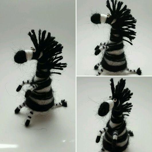 Куклы и игрушки ручной работы. Ярмарка Мастеров - ручная работа. Купить Зебра. Handmade. Зебра, игрушка ручной работы