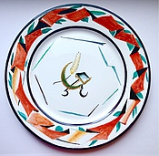 """Посуда ручной работы. Ярмарка Мастеров - ручная работа Блюдо """"Агитфарфор"""". Handmade."""