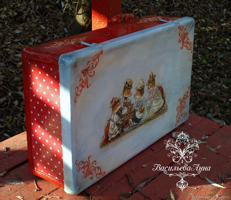 Чемоданы ручной работы. Ярмарка Мастеров - ручная работа. Купить Большой  чемодан  Осенняя сказка ... feadadb4870