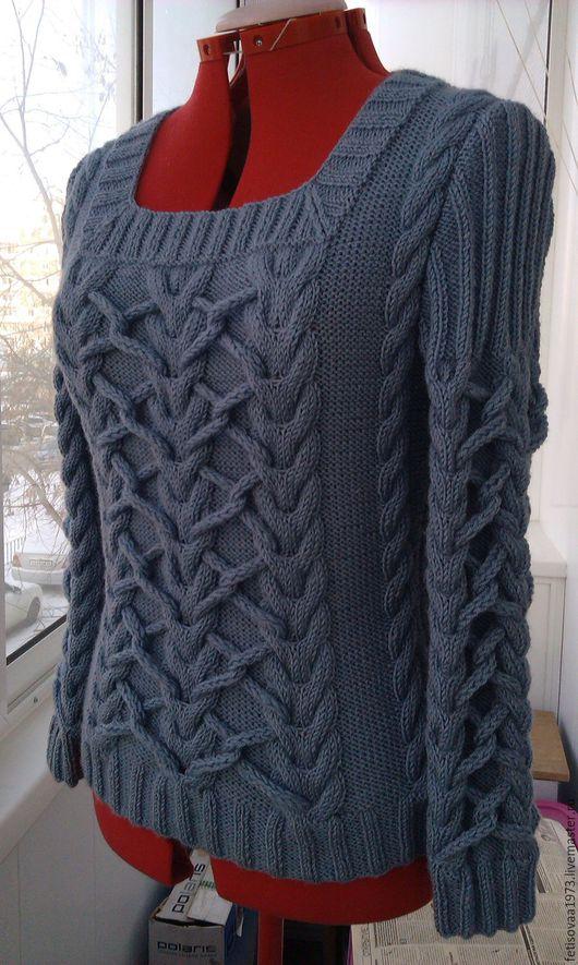 """Кофты и свитера ручной работы. Ярмарка Мастеров - ручная работа. Купить Пуловер """" Модный стиль"""". Handmade. Темно-серый"""