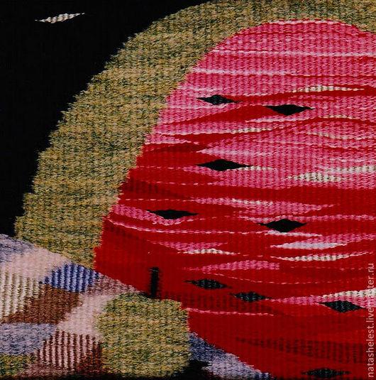 """Гобелен """"Арбуз и яблоко"""". Ручное ткачество. Наталья Шестакова - дизайнер, декоратор."""