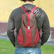 handmade. Livemaster - original item Backpack jeans urban. Handmade.