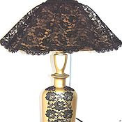 """Для дома и интерьера ручной работы. Ярмарка Мастеров - ручная работа Лампа настольная """"Дама в шляпе"""". Handmade."""
