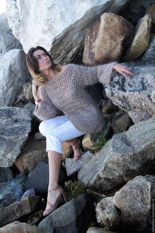 Кофты и свитера ручной работы. Ярмарка Мастеров - ручная работа. Купить Свитшот. Handmade. Бежевый, вязанный свитер, осенняя мода