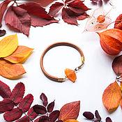 Украшения handmade. Livemaster - original item Bracelet with carnelian leather. Handmade.