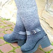 Обувь ручной работы. Ярмарка Мастеров - ручная работа Сапожки зимние двухцветные Алина. Handmade.
