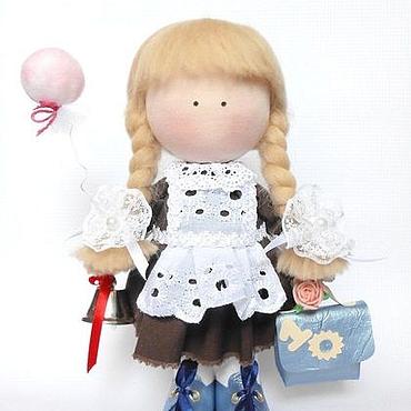 """Куклы и игрушки ручной работы. Ярмарка Мастеров - ручная работа Кукла интерьерная """"Первоклашка"""". Handmade."""