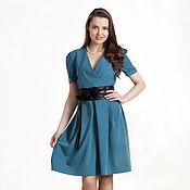 Одежда ручной работы. Ярмарка Мастеров - ручная работа 180: повседневное платье с запахом, платье из костюмной ткани. Handmade.