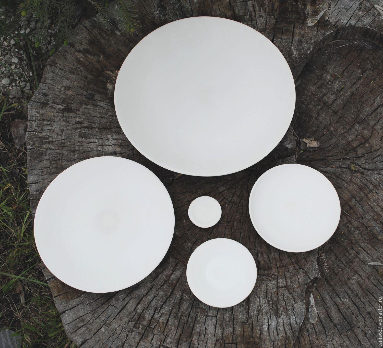 Тарелка для росписи белая