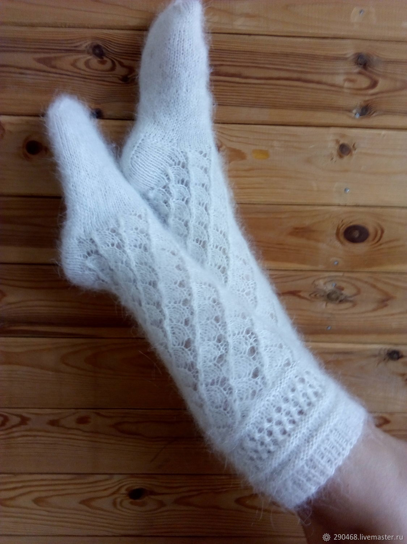 Down socks snow White, Knee, Urjupinsk,  Фото №1