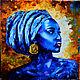 Африканка Голубой бриллиант Холст Масло, Картины, Королев,  Фото №1