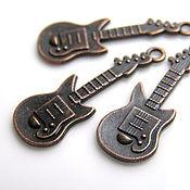 Материалы для творчества handmade. Livemaster - original item Pendants guitar the color of copper. Handmade.