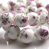 Материалы для творчества handmade. Livemaster - original item Agate beads with a pattern 2 of a kind. Handmade.