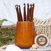 Материалы для творчества handmade. Livemaster - original item Crochet hooks (set 7pc 4-10mm    vase) Siberian pine #KN2. Handmade.