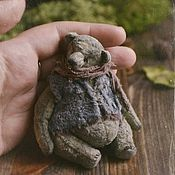 Мягкие игрушки ручной работы. Ярмарка Мастеров - ручная работа Старенький мишка. Handmade.