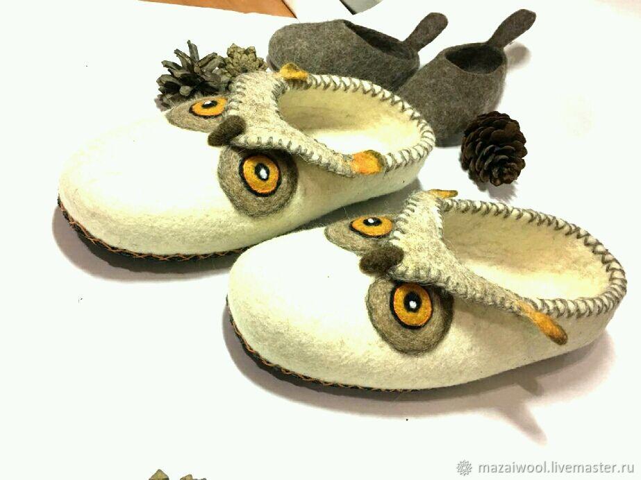 Felted slippers Owls, Slippers, Yoshkar-Ola,  Фото №1