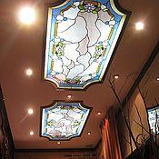 Для дома и интерьера ручной работы. Ярмарка Мастеров - ручная работа Витражный потолочный светильник. Handmade.