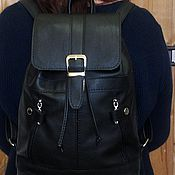 Сумки и аксессуары handmade. Livemaster - original item Backpack leather city 70. Handmade.