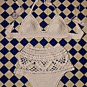 Одежда ручной работы. Ярмарка Мастеров - ручная работа Вязаный купальник. Handmade.