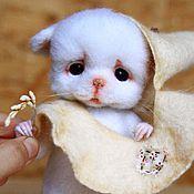 Куклы и игрушки ручной работы. Ярмарка Мастеров - ручная работа Белый мышонок Лукоша. Handmade.