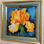 Картины и панно handmade. Livemaster - original item Sunny Iris. Handmade.