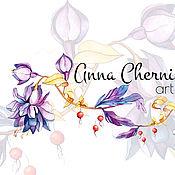 Дизайн и реклама ручной работы. Ярмарка Мастеров - ручная работа акварельный логотип цветы. Handmade.