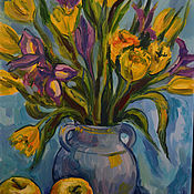 Картины и панно handmade. Livemaster - original item Pictures: spring bouquet. Handmade.