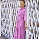 осеннее платье, платье на осень, красивое длинное платье, длинное платье, платье с длинным рукавом, сиреневое платье, нарядное платье, роскошное платье, розовое платье, розовое длинное платье