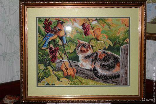 Животные ручной работы. Ярмарка Мастеров - ручная работа. Купить вышитая картина. Handmade. Вышитая картина, картина вышитая крестом