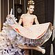 """Платья ручной работы. Ярмарка Мастеров - ручная работа. Купить платье """"Dessert"""". Handmade. Бежевый, ретро платье, Новогоднее платье"""