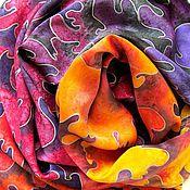 """Аксессуары ручной работы. Ярмарка Мастеров - ручная работа Батик платок """" Фламенко"""". Handmade."""