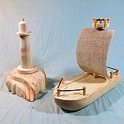 Техника, роботы, транспорт ручной работы. Ярмарка Мастеров - ручная работа Большой деревянный корабль с парусом. Handmade.
