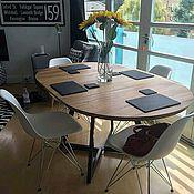 Для дома и интерьера ручной работы. Ярмарка Мастеров - ручная работа Дизайнерский овальный стол Влада для офиса или кухни. Handmade.