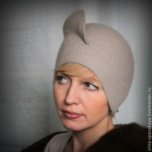 """Шляпы ручной работы. Ярмарка Мастеров - ручная работа. Купить Дамская шляпка """"Метель. Сумерки"""". Handmade. Серый, войлок"""