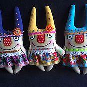 Куклы и игрушки ручной работы. Ярмарка Мастеров - ручная работа Весёлые зайцы. Handmade.