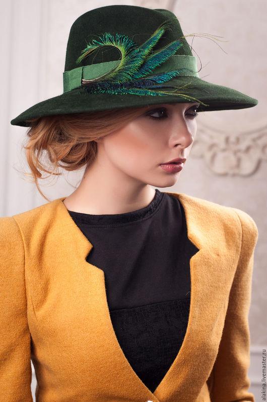 Шляпы ручной работы. Ярмарка Мастеров - ручная работа. Купить Фетровая шляпа 020. Handmade. Однотонный, шляпа с полями