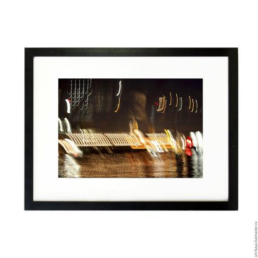 Фотокартины ручной работы. Ярмарка Мастеров - ручная работа. Купить Фотокартина в раме для интерьера. Ночной Амстердам 1. Handmade. Комбинированный