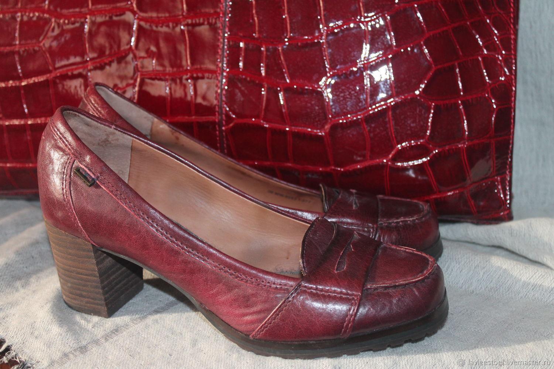 Винтаж: Туфли осенние 100% кожа, Обувь винтажная, Киев,  Фото №1