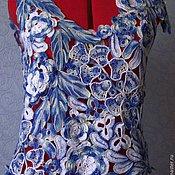 """Одежда ручной работы. Ярмарка Мастеров - ручная работа Блузка """"Гжель"""". Handmade."""