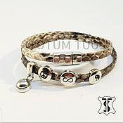 Bead bracelet handmade. Livemaster - original item Elegant leather bracelet...for Her Art:18000225. Handmade.