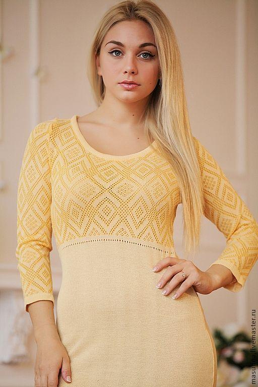 """Платья ручной работы. Ярмарка Мастеров - ручная работа. Купить Платье """"Сиеста"""". Handmade. Желтый, весенняя мода"""