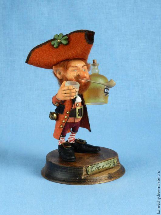 """Миниатюра ручной работы. Ярмарка Мастеров - ручная работа. Купить Маленькая кукла """"Cheers!"""". Handmade. Рыжий, кукла ручной работы"""