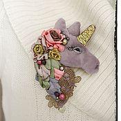 Украшения handmade. Livemaster - original item Velvet brooch Fairy Unicorn. Handmade.