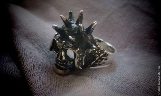 """Украшения для мужчин, ручной работы. Ярмарка Мастеров - ручная работа. Купить Кольцо """"Череп №3"""". Handmade. Кольцо из серебра"""