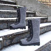 """Обувь ручной работы. Ярмарка Мастеров - ручная работа Валяные сапоги """"Серые"""". Handmade."""