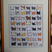 """Картины и панно ручной работы. Ярмарка Мастеров - ручная работа Картина """"I love cats"""" / """"Я люблю кошечек"""". Handmade."""
