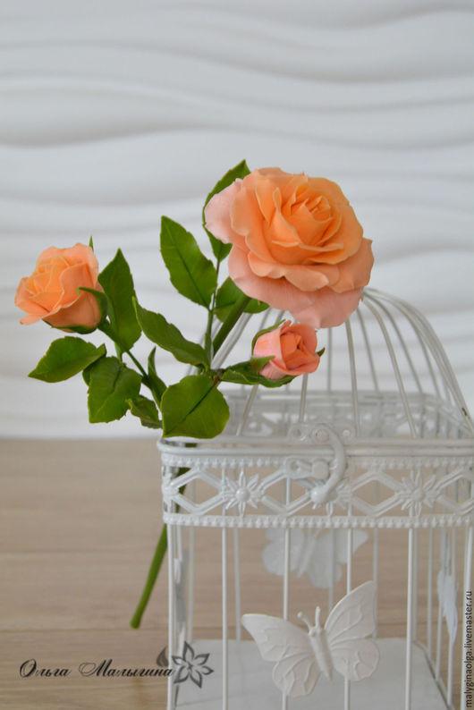 Цветы ручной работы. Ярмарка Мастеров - ручная работа. Купить Роза из полимерной глины. Handmade. Цветы ручной работы