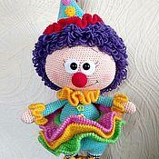Мягкие игрушки ручной работы. Ярмарка Мастеров - ручная работа Бонни в костюме клоуна. Handmade.